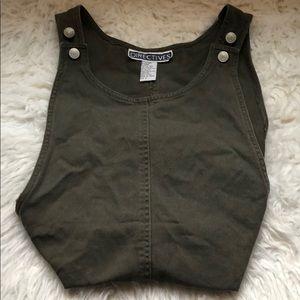 SOLDDDDDdirectives jean dress overalls